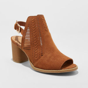 Elden Microsuede Sling Back Pumps bootie 9.5